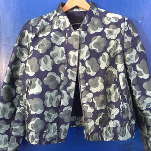 Banana Republic Bomber Fall Floral Pattern Jacket